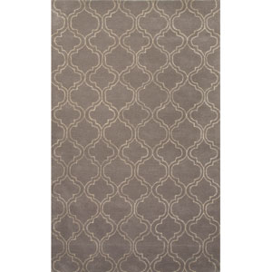 Baroque Grayish Ivory Rectangular: 5 Ft. x 8 Ft. Rug