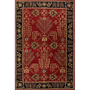 Poeme Red and Black Rectangular: 5 Ft. x 8 Ft. Rug
