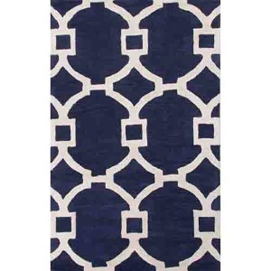 City CT51 Deep Navy Rectangular: 2 Ft. x 3 Ft. Rug