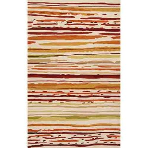 Colours CO18 Red Rectangular: 2 Ft. x 3 Ft. Rug