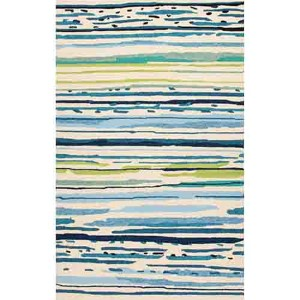 Colours CO19 Blue Rectangular: 2 Ft. x 3 Ft. Rug