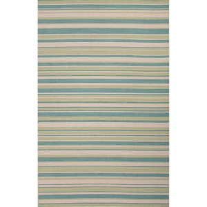 Pura Vida PV55 Capri and Pale Lime Rectangular: 2 Ft. x 3 Ft. Rug