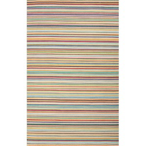 Pura Vida PV57 Multicolor Rectangular: 2 Ft. x 3 Ft. Rug