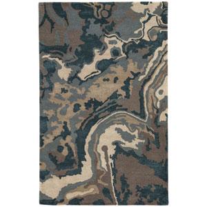 Blue Alabaster Driftwood Rectangular: 5 Ft. x 8 Ft. Rug
