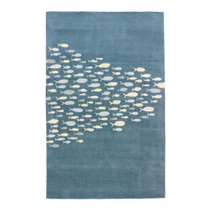 Coastal Resort Schooled Captains Blue Rectangular: 2 Ft. x 3 Ft. Rug