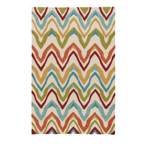 Coastal Lagoon Bahia Burnt Orange Rectangular: 7 Ft. 6 In. x 9 Ft. 6 In. Rug