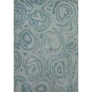 National Geographic Home Collection Gabbro Blue Haze Rectangular: 2 Ft. x 3 Ft. Rug