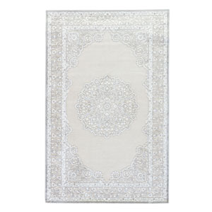Fables Malo Bright White Rectangular: 2 Ft. x 3 Ft. Rug