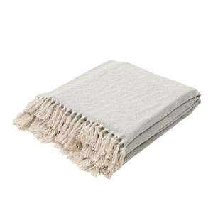 Seabreeze Mineral Blue and Birch Throw