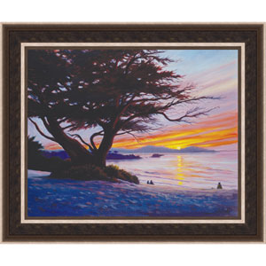 Sunset at Carmel Beach by Charles White: 25 x 20 Framed Giclee Canvas
