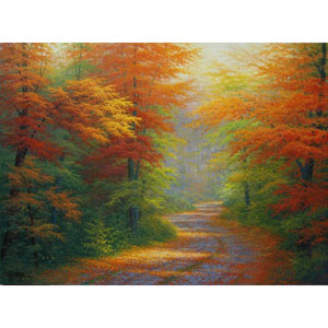 Autumn Interlude by Charles White: 32 x 24 Artist Proof Giclee Canvas