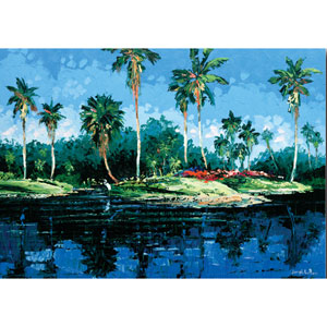 Blue Lagoon by Joseph LaPierre: 24 x 18 Gallery Wrapped Canvas Giclee