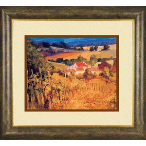 Vineyard Hills by Philip Craig: 21 x 19 Open Edition Framed Print