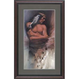 Brave Spirit by Lee Bogle: 15.375 x 29 Framed Limited Edition Art Print