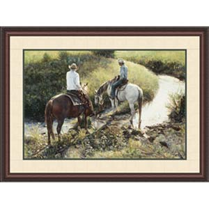 Where the Grass Is Greener by Steve Hanks: 26.75 x 18 Framed Limited Edition Art Print