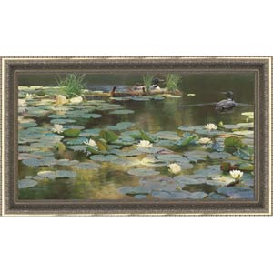 Leaving the Lilies by Sandra Weiler: 23 x 41 Limited Edition Framed Giclee on Canvas