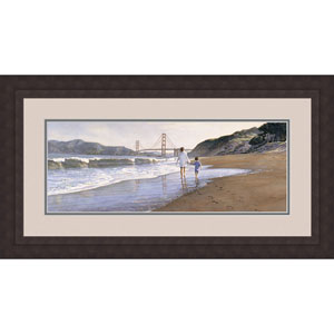 Morning at Bakers Beach Limited Edition Print by Steve Hanks , 21 x 41 In. Framed Art