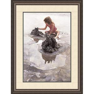 Castles in the Sand by Steve Hanks: 21.5 x 26.5 Framed Limited Edition Art Print