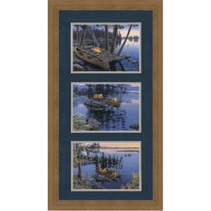 Paddling through the Seasons by Darrell Bush: 20.75 x 30.875 Framed Open Edition Lithograph Art Print