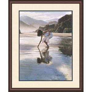 Treasures on the Shore by Steve Hanks: 23 x 27 Framed Limited Edition Art Print