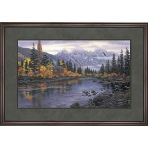 Mountain Hideaway by Darrell Bush: 38.5 x 27.5 Framed Print