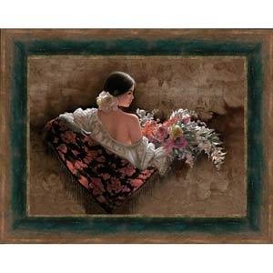 Flores de la Elegancia by Lee Bogle: 41 x 30 Limited Edition Framed Giclee on Canvas