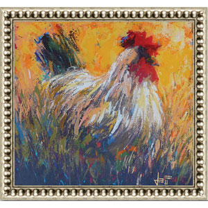 Chanticlear by Jeff Boutin: 24 x 24 Framed Giclee Canvas