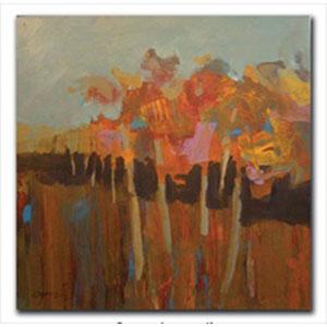 September Song by Steve Capiz: 10 x 10 Giclee Canvas