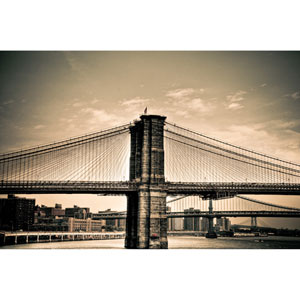 Brooklyn Bridge New York Bridges by Kelly Wade, 18 x 24 In. Canvas Art