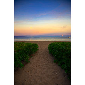 Ka Anapali Sunrise Hawaii II by Kelly Wade, 24 x 32 In. Canvas Art