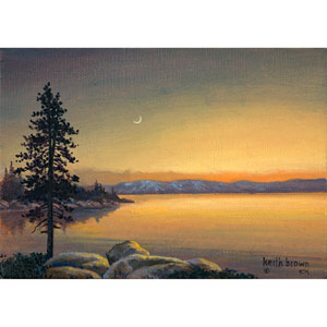 Tahoe Evening by Keith Brown, 16 x 20 In. Canvas Art