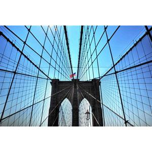 Brooklyn Bridge by Kelly Wade, 16 x 24 In. Canvas Art