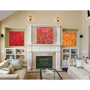 Abstract Canvas by Jeff Boutin, Set of Three 20 x 20 In. Canvas Wall Art