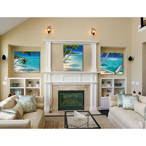 Tropical Landscape by Dan Mackin, Set of Three 24 x 32 In. Canvas Wall Art