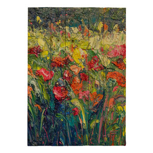 Thick Bloom by Jeff Boutin, 16 x 20 In. Wood Wall Art