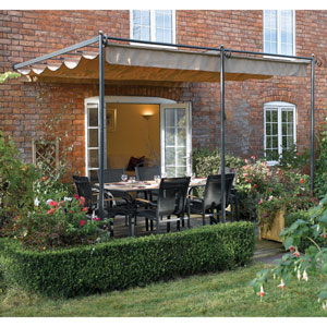 St.Tropez Grey Wall Mounted Retractable Canopy