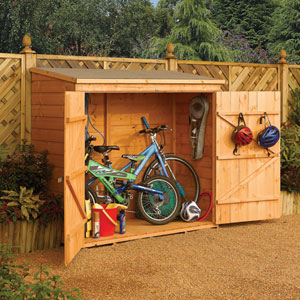Rowlinson Brown Double Door Storage Shed