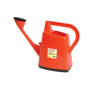 Red Plastic 2.5-Gallon Watering Can