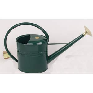 Haws Slimcan 8 Liters Painted Green Galvanized Watering Can With Round Rose
