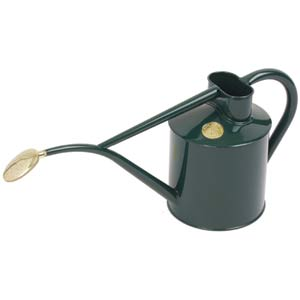 Haws Indoor Green Metal 2 Pint Watering Can With Rose