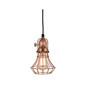 Lani Weathered Copper 6-Inch One-Light Pendant