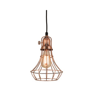 Lani Weathered Copper 8-Inch One-Light Pendant