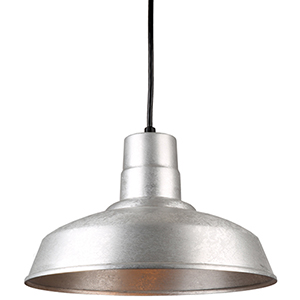 Warehouse Galvanized 14-Inch Steel Pendant