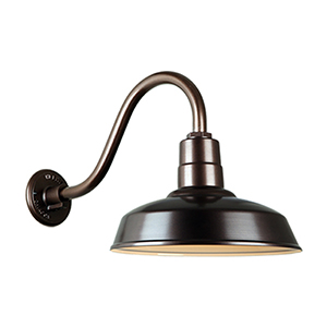 Warehouse Oil Rubbed Bronze QSNB-42 Arm 14-Inch Outdoor Wall Mount