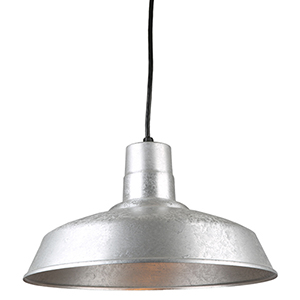 Warehouse Galvanized 16-Inch Steel Pendant