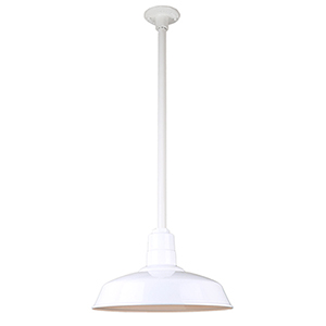 Warehouse White 16-Inch Pendant with 24-Inch Downrod