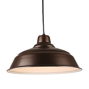 Warehouse Oil Rubbed Bronze 17-Inch Steel Pendant