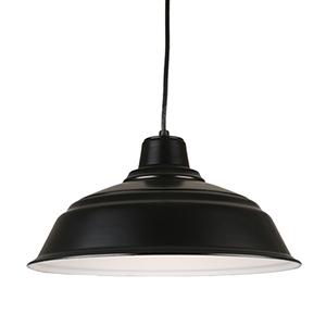 Warehouse Black 17-Inch Steel Pendant