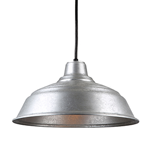 Warehouse Galvanized 17-Inch Steel Pendant