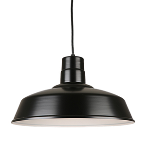 Warehouse Black 18-Inch Steel Pendant